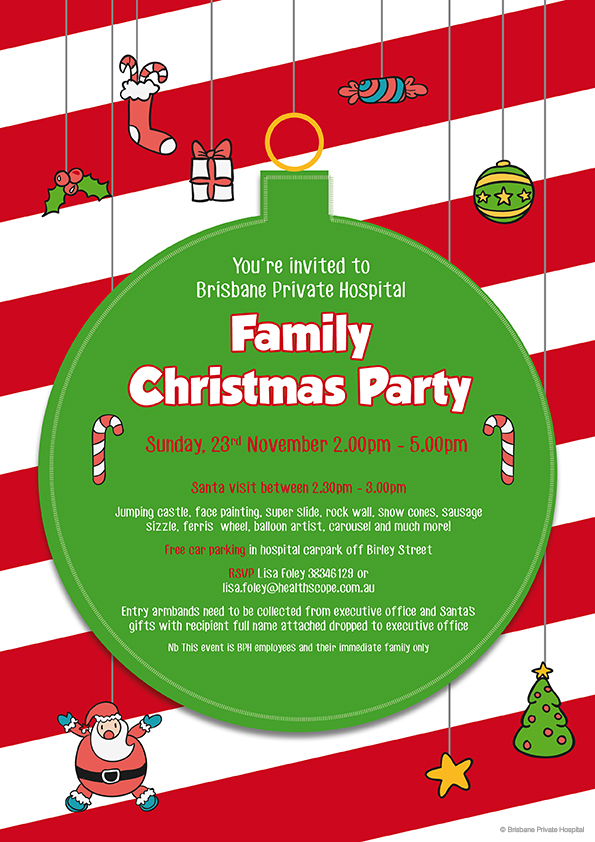 Family Christmas Party | Bell Graphic Design